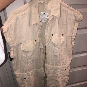 Free peopl army vest/jacket